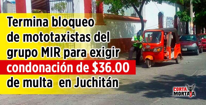 Termina bloqueo de mototaxistas del grupo mir para exigir condonaci n de de multa en - Oficina municipal del taxi ...