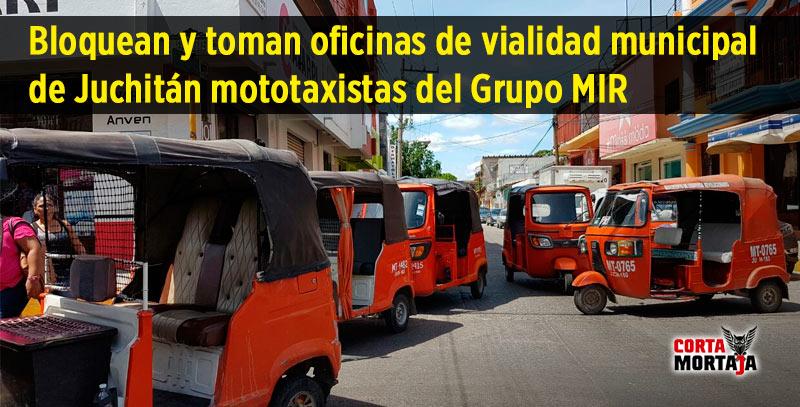 Bloquean y toman oficinas de vialidad municipal de juchit n mototaxistas del grupo mir - Oficina municipal del taxi ...