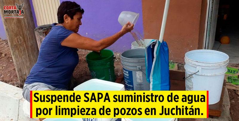 Suspende sapa suministro de agua por limpieza de pozos en for Limpieza de pozos de agua